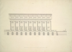 Longitudinal Elevation of the Building
